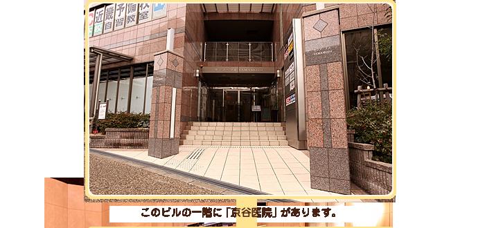 このビルの一階に「京谷医院」があります。